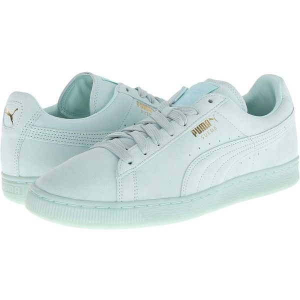 PUMA The Suede Classic+ Mono Iced (Fair Aqua/Team Gold) Men's Shoes (