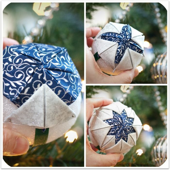 FREE step-by-step instructions for making a Quilted Ball Ornament | from ht… | Quilted christmas ...