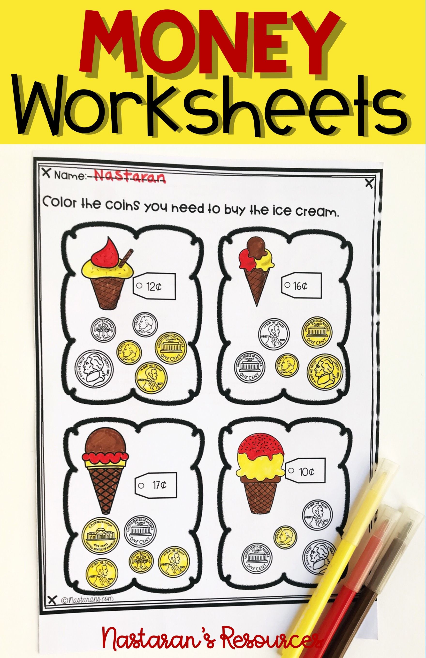 Money Worksheets Coin