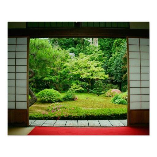65 Philosophic Zen Garden Designs: Asia, Japan, Kyoto. Zen Garden 2 Poster