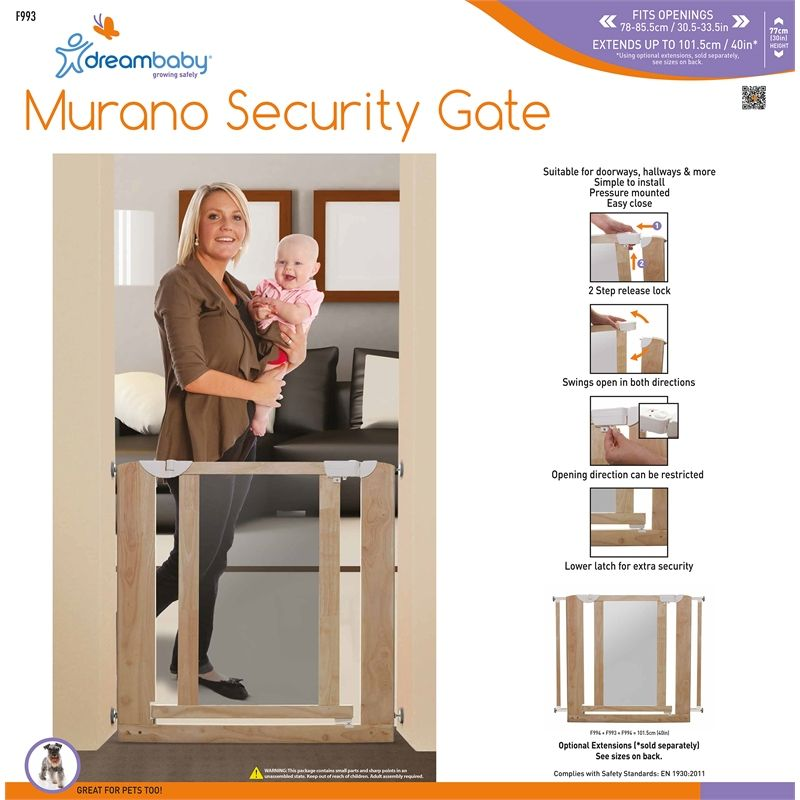 Find Dreambaby Child Safety Murano Wooden Safety Gate At Bunnings