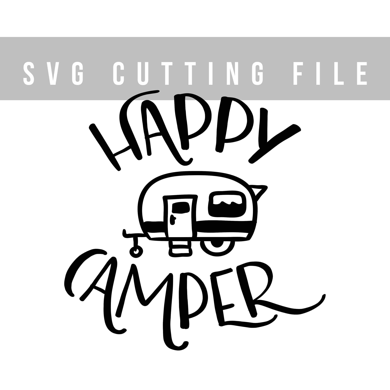 Happy camper SVG design for cut Svg file Summer svg