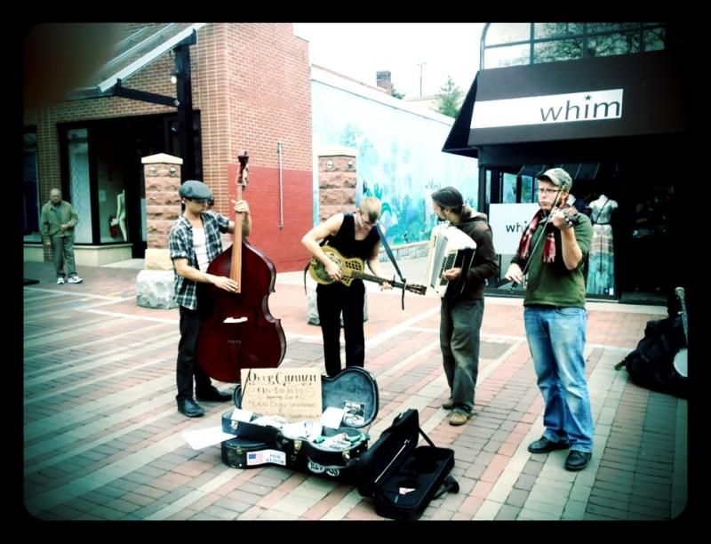 Street musicians Deep Chatham doing their thing.  Wish they would return to Asheville more often!