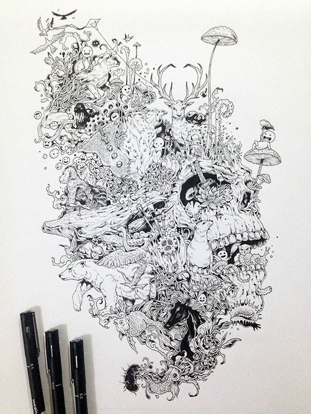 Kerby Rosanes Doodles Illustrations 13