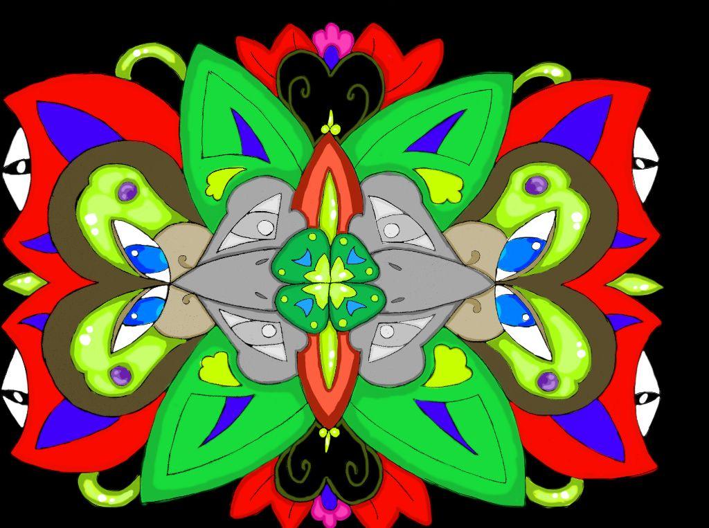 Jungle Mandala. ©Madeline Secules#TDQ (I've begun to dabble in digital art. What do think? You like?)