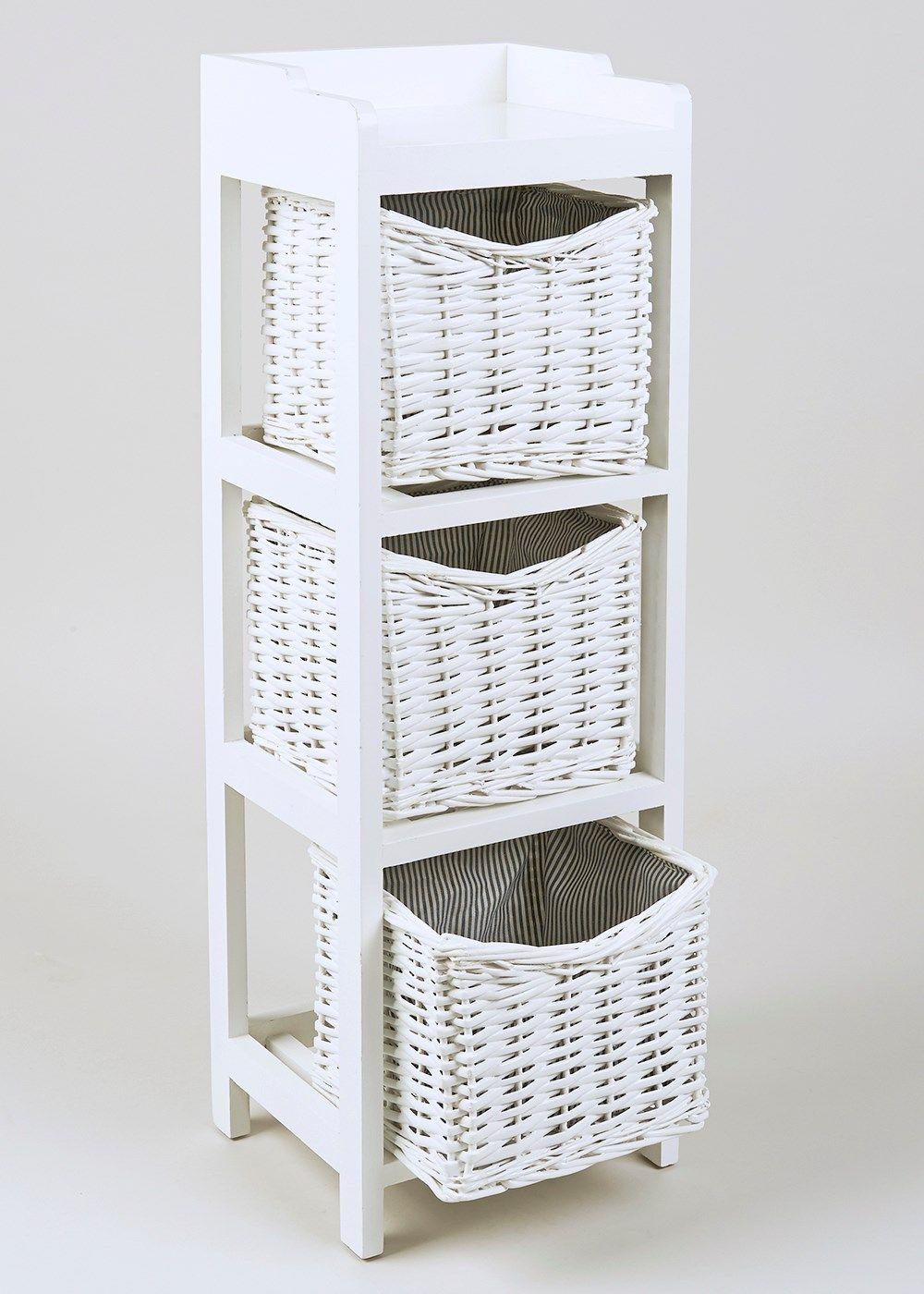 Wicker 5 Drawer Wooden Tower Unit (5cm x 25cm x 5cm) - Matalan