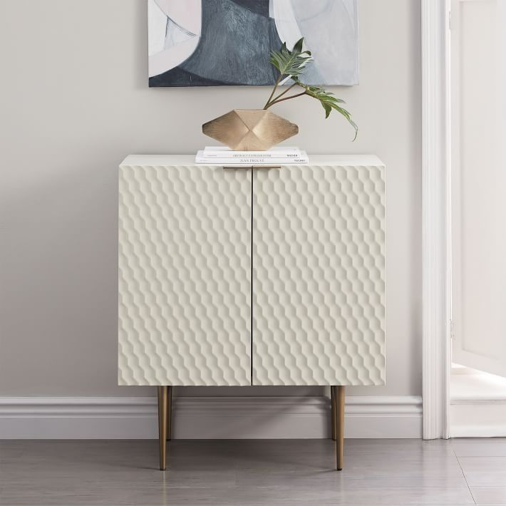 Audrey Entryway Cabinet With its geometric textured