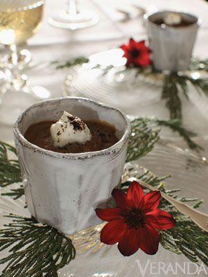 Espresso Pot de Creme; recipe at Veranda.com    Alessandra Branca's Holiday Recipes - Veranda.com