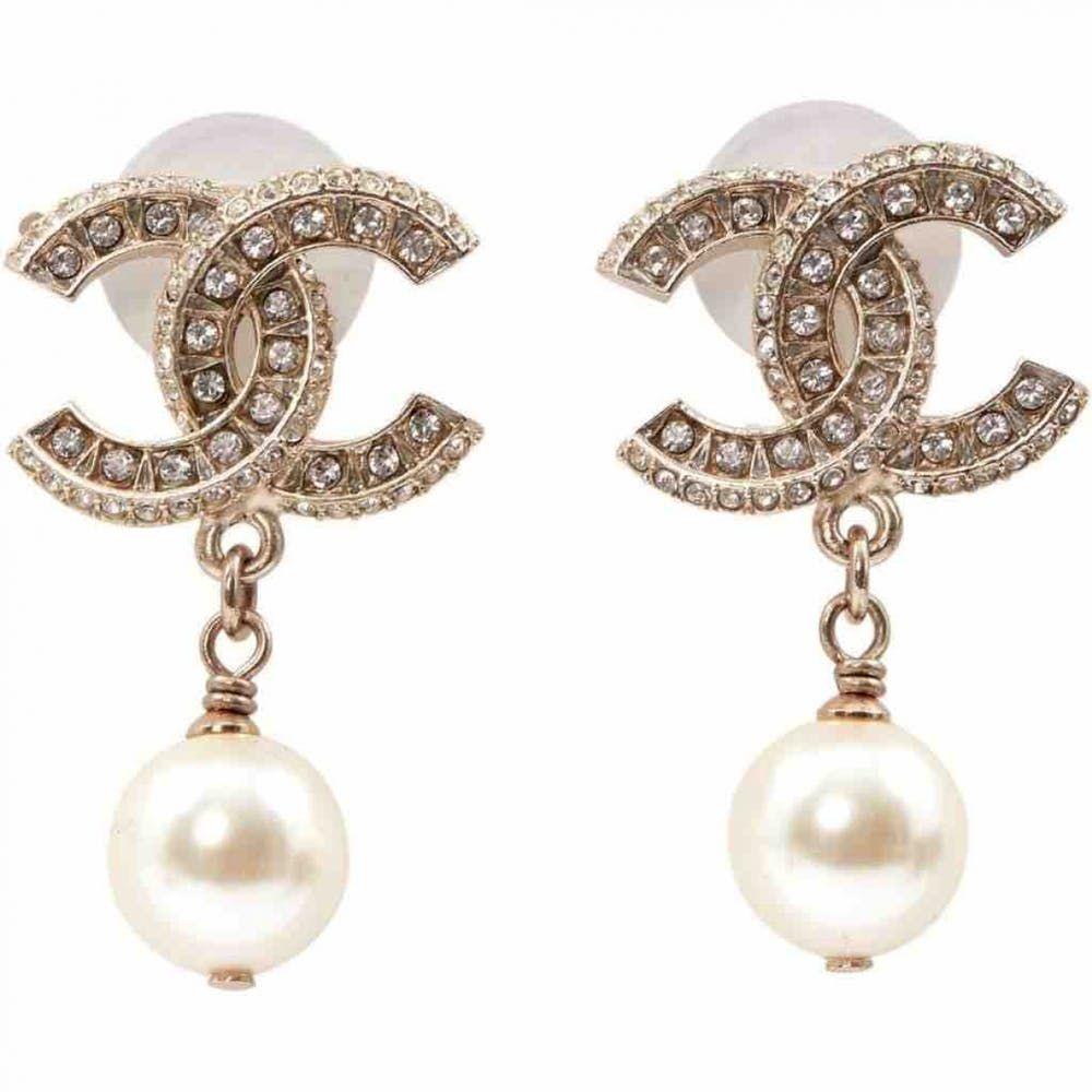 Cc Earrings Chanel Gold In Metal 7101905 Chanel Earrings Heart Jewelry Jewelry