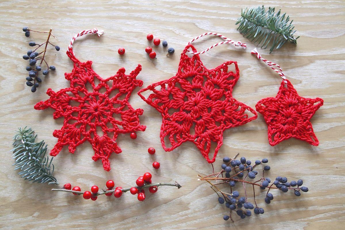 Weihnachtsdekoration Häkeln Weihnachten Pinterest
