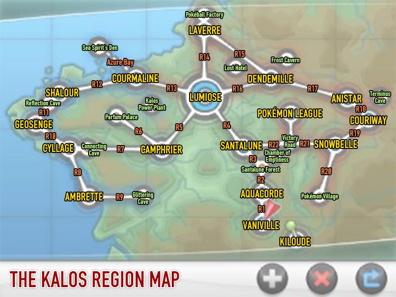 Kalos Region Map | pokémon | Pinterest | Kalos region, Pokémon and