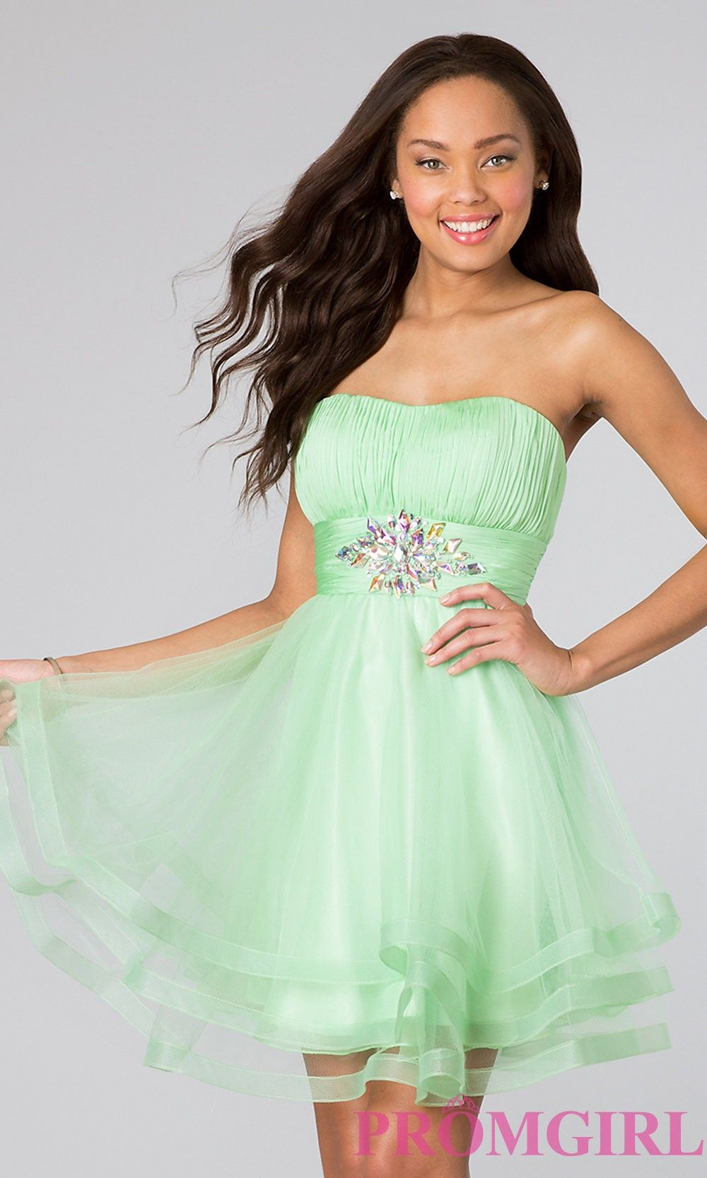 Short strapless babydoll dress from