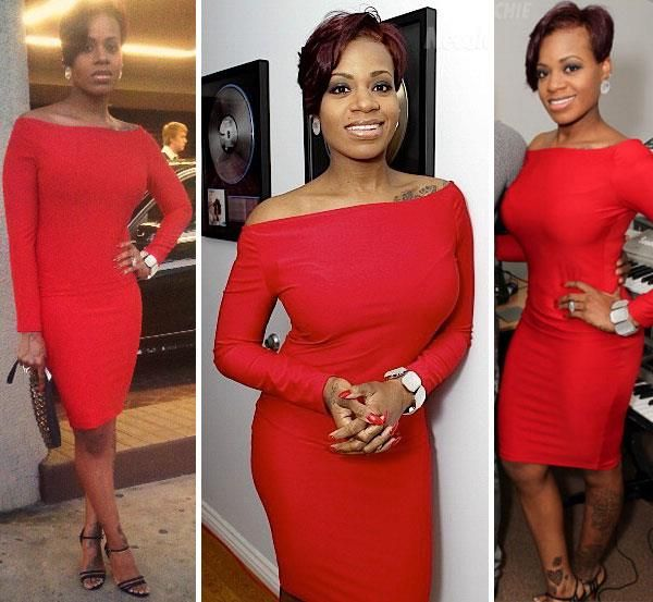 Fantasia Barrino S New Look Is Great Love The Hair Effort She Put Into The Figure And That Dress Short Hair Styles Fantasia Hairstyles Girl Hairstyles