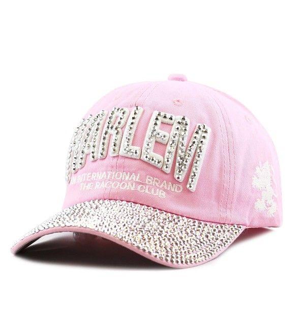 014adda1b2f 200H4320 Bling Studded Rhinestone Harlem Adjustable Baseball Cap ...