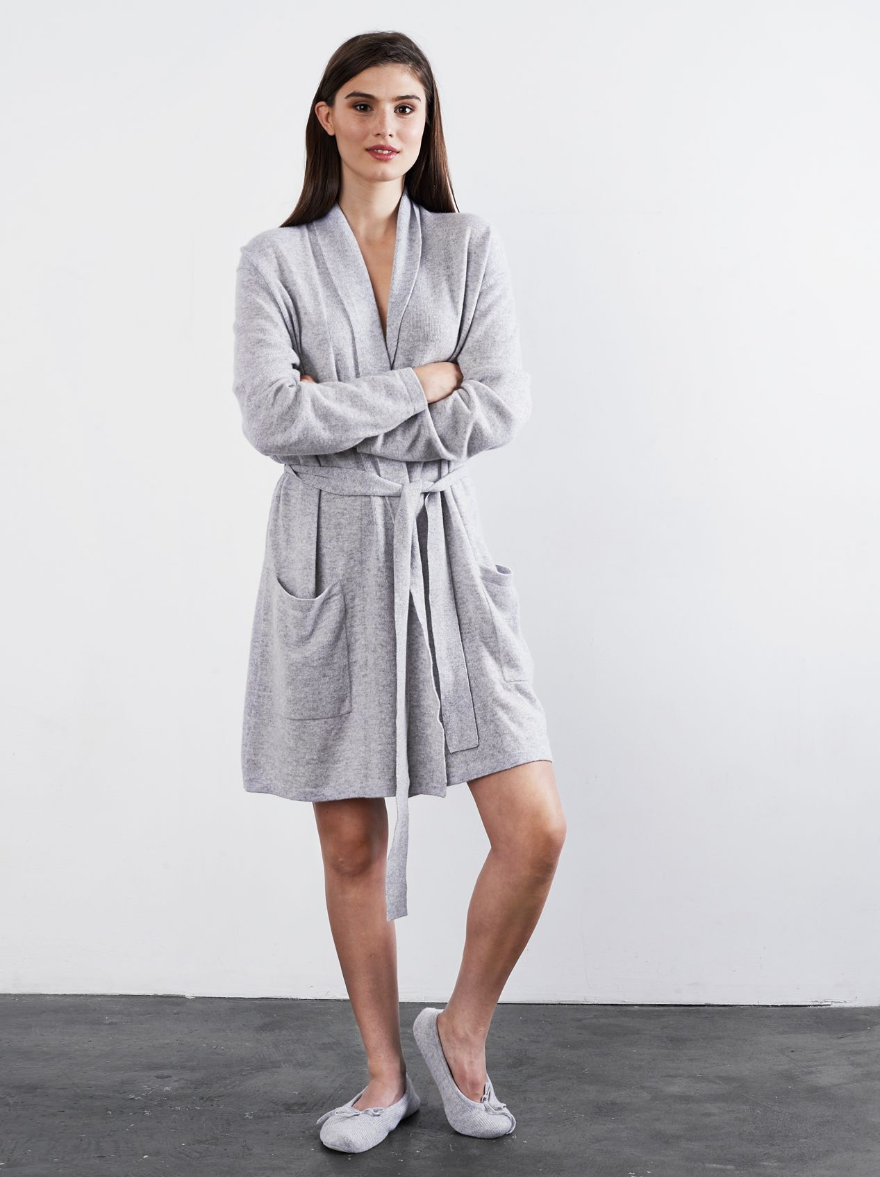 Soft Goat Cashmere Robe in Light Grey  6d5fef07f