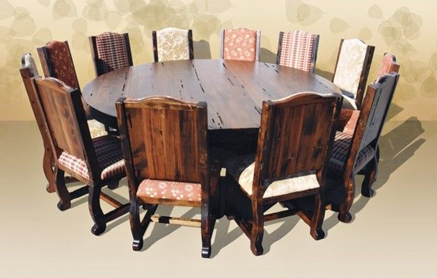 Round Dining Table Seats 10 For 2020 Ideas On Foter Round Dining Room Table Round Dining Room Large Dining Room Table
