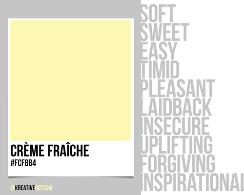 How does the color creme fraiche fcf8b4 make you feel - How colors make you feel ...