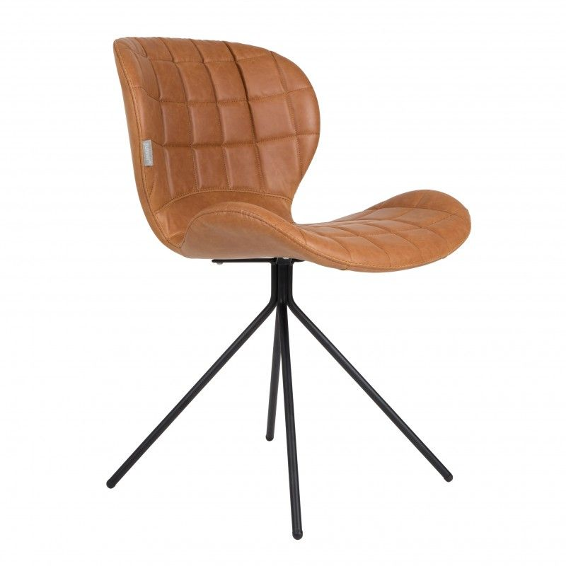 chaise omg en simili cuir le cuir brun donne tres tres bien mais elle