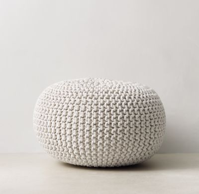 Fantastic Rh Teens Metallic Knit Cotton Pouf Sparkling Lurex174 Pdpeps Interior Chair Design Pdpepsorg