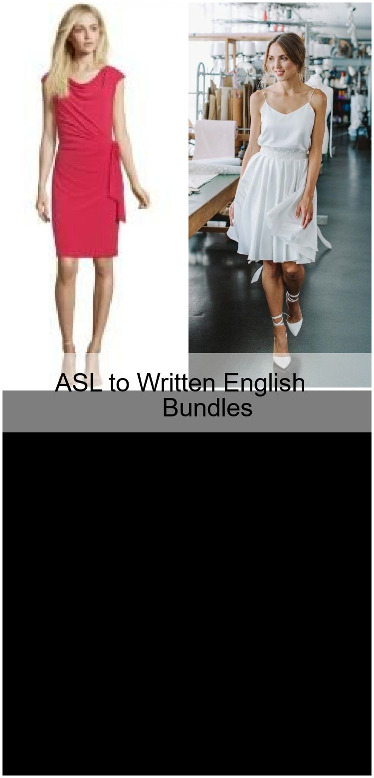 asl to written english bundles | kleider, mode