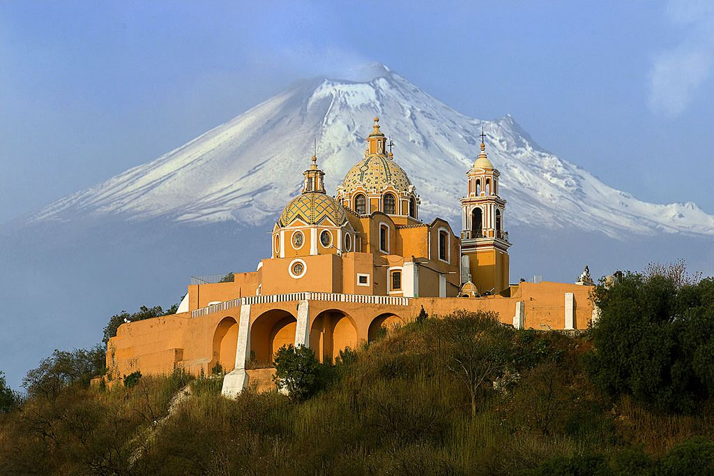 Iglesia de los Remedios, de los más bellos paisajes de Puebla