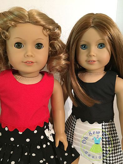 Popsicle Top for 18 inch dolls | YouCanMakeThis.com | Doll Clothes ...