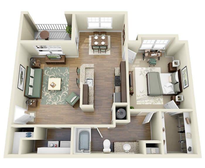 1bed Plan Apartment Floor Plans Floor Plans One Bedroom Apartment