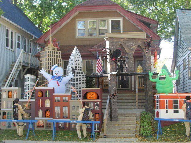 Casas Decoradas Espectacularmente Para Halloween Halloween House Decoration Halloween House Fun Halloween Decor