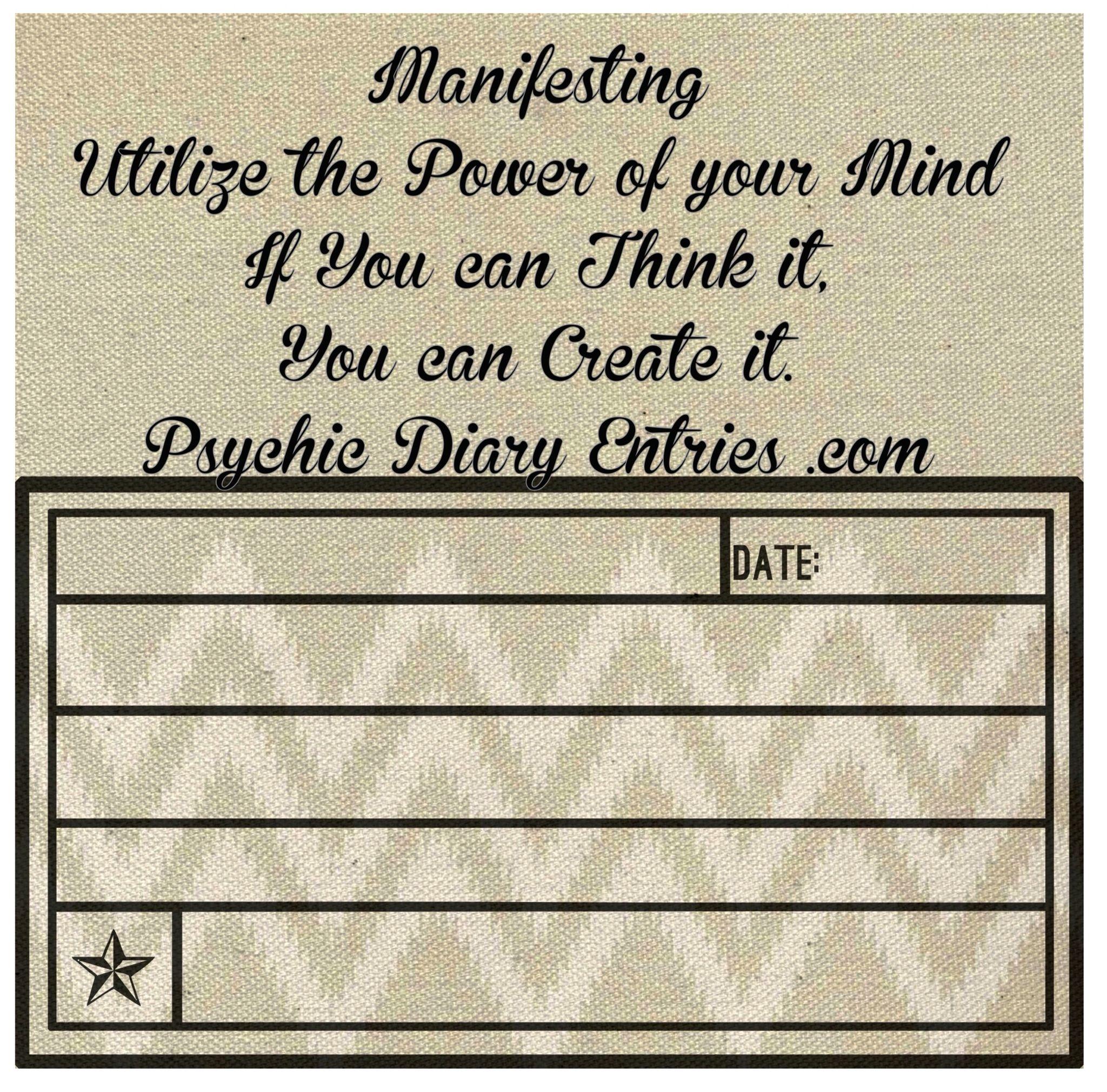 Manifesting Worksheets