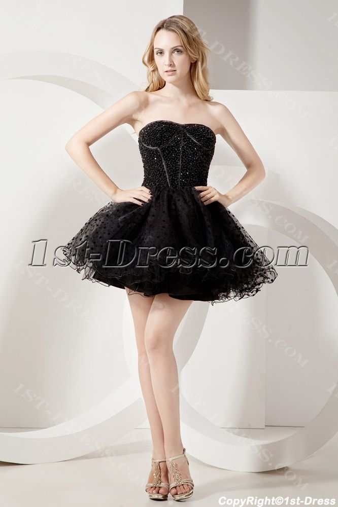 Beaded Black Short Sweet 16 Gown:1st-dress.com | Sweet 16 ...