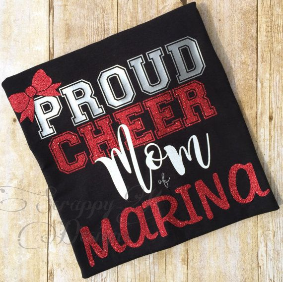 Cheer Mom Shirt Proud Cheer Mom Shirt Cheerleading Mom