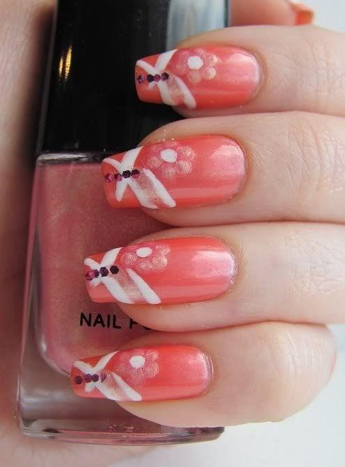 Amazing Coral Nail Designs 2015 Nails Pinterest Coral Nail