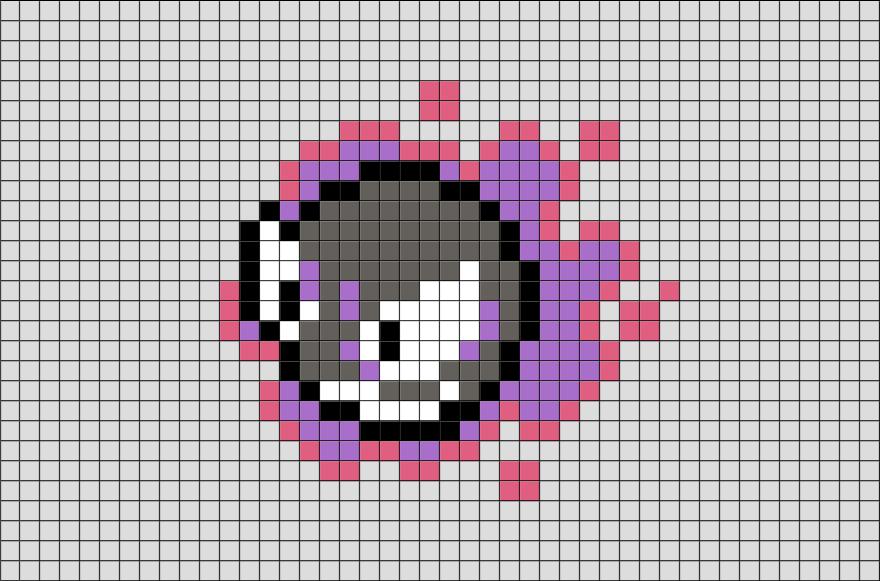 Pokemon Gastly Pixel Art Pixel Art Grid Pixel Art