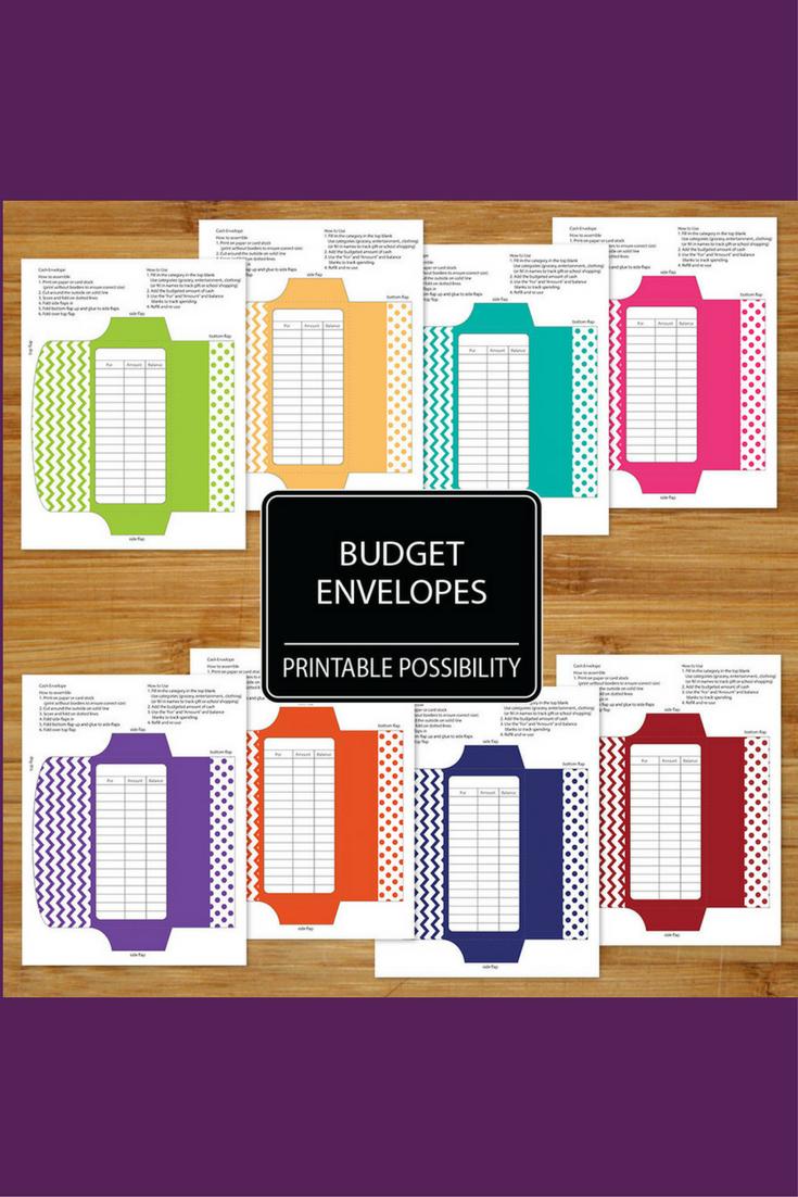 affordable printable downloadable cash envelopes set of 8