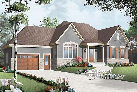 Plan de Maison unifamiliale W2163-V2, Un plan populaire chez dessin
