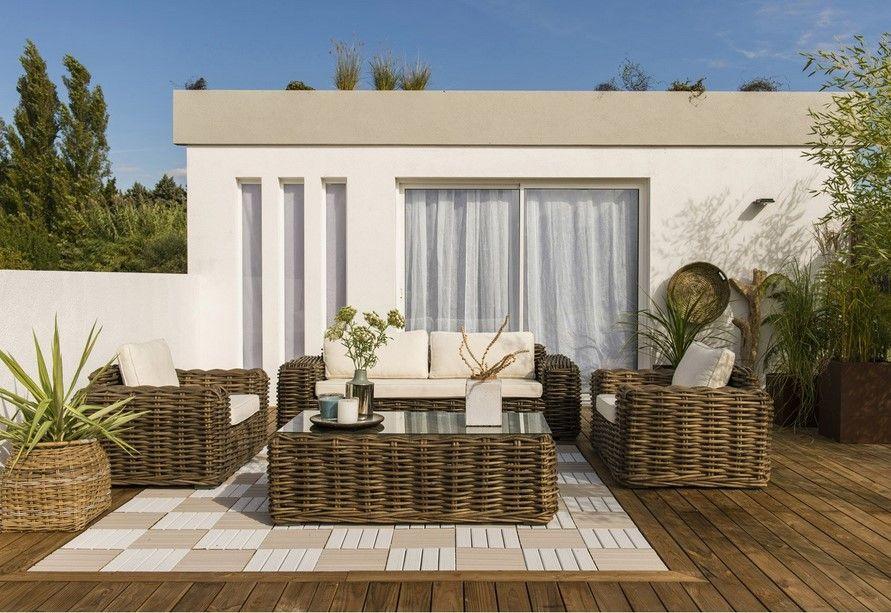 salon bas de jardin ayamonte bois naturelle salon de. Black Bedroom Furniture Sets. Home Design Ideas