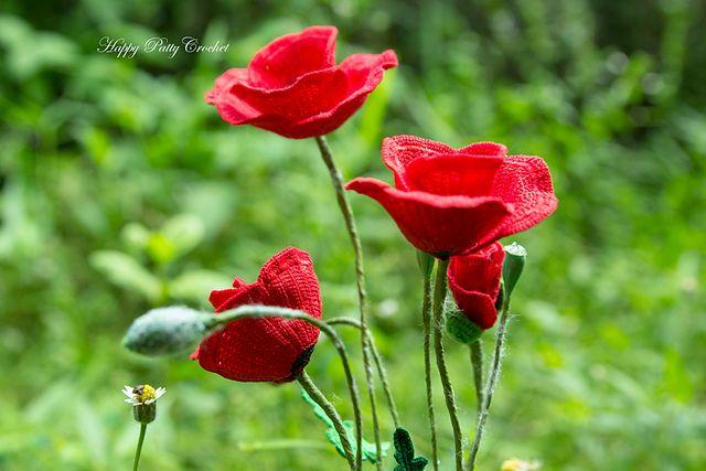 Poppy Flower pattern by Happy Patty Crochet | Mohnblume