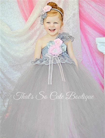 Gray and pink lace flower girl tutu dress gray silver pink baby gray and pink lace flower girl tutu dress gray silver pink baby pink flower girl tutu dress wedding mightylinksfo