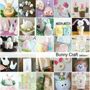 Easter Bunny Crafts, Activities and Treat Ideas