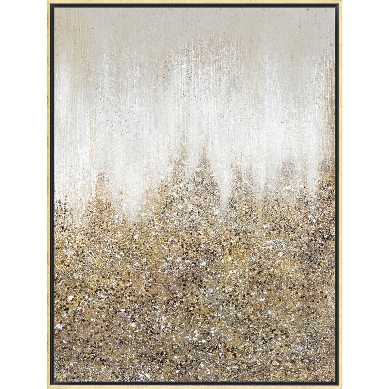 Gold Glitter Abstract Canvas Wall Art 30 X 40 At Home Glitter Wall Art Abstract Canvas Wall Art Diy Abstract Canvas Art