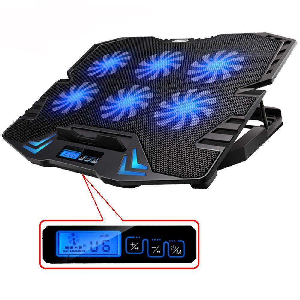 Usb Laptop Cooler 12 15 6 Inch 6 Cooling Fans Light Ice Coorel