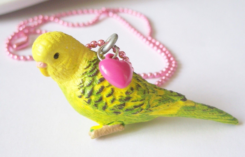 parakeet necklace via etsy