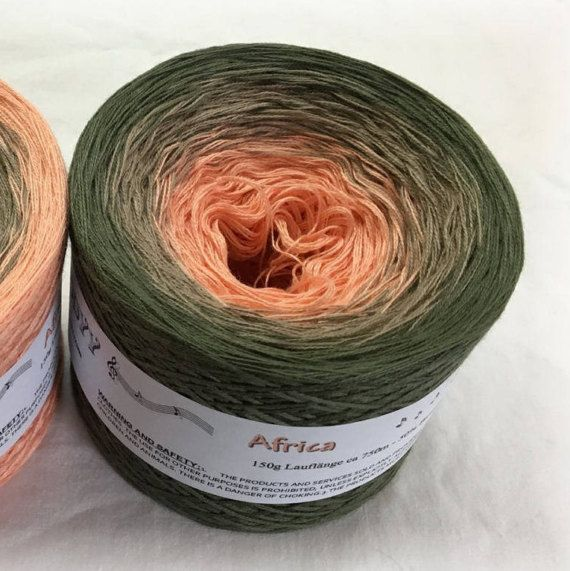 35/% Acrylic fingering weight color change knitting yarn 20 65/% Cotton