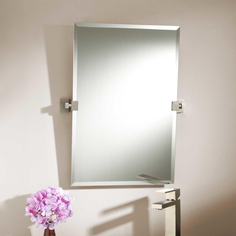 Brushed Nickel Vanity Wall Mirror | http://drrw.us | Pinterest ...