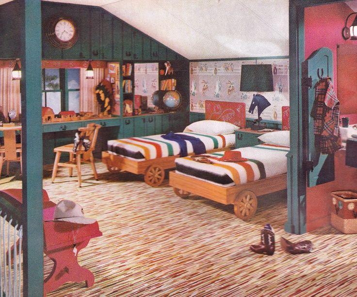 Boys Bedroom 1952 Retro Bedrooms Cool House Designs 50s Interior