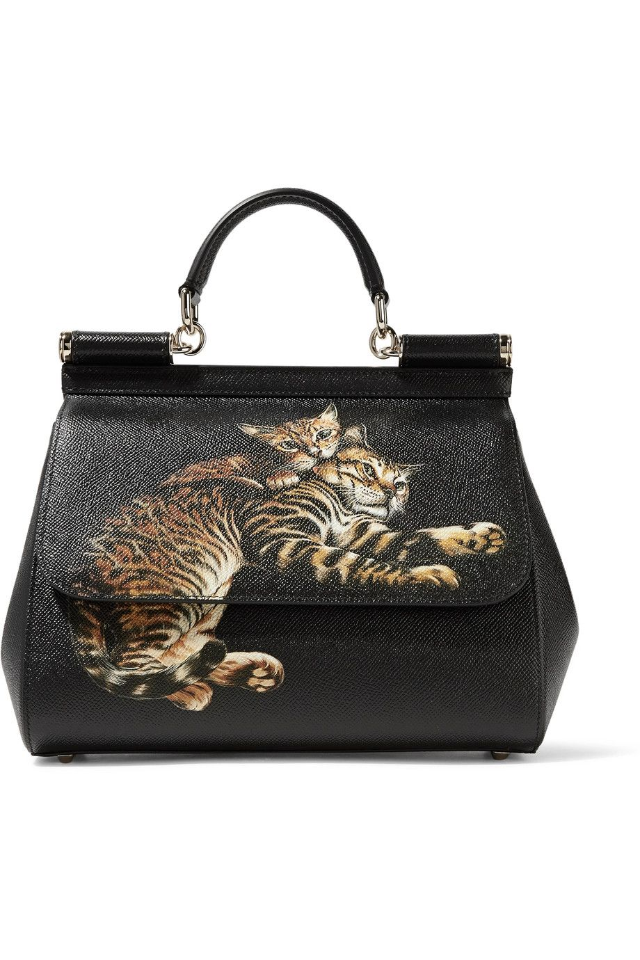 DOLCE   GABBANA Sicily Printed Textured-Leather Shoulder Bag.  dolcegabbana   bags  shoulder bags  hand bags  leather   10ce6aa673ed1