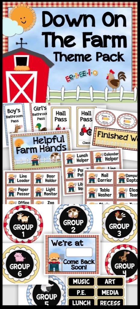 Farm Theme Decor Farm Classroom Theme Kindergarten Classroom Themes Classroom Themes