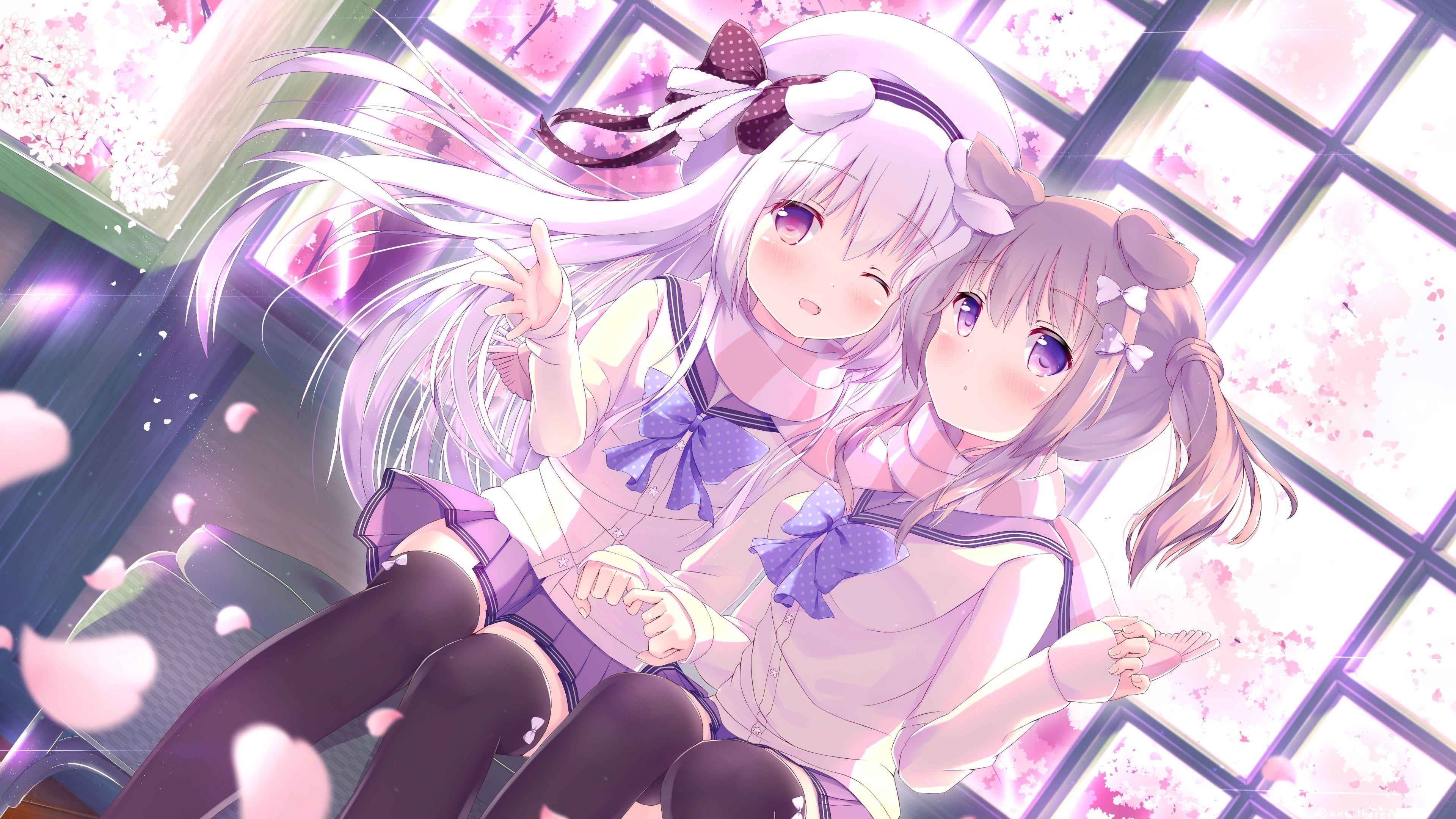 Anime Girls Cute School Uniform Friends Moe Cute Girl Wallpaper Anime School Girl Cute Wallpapers