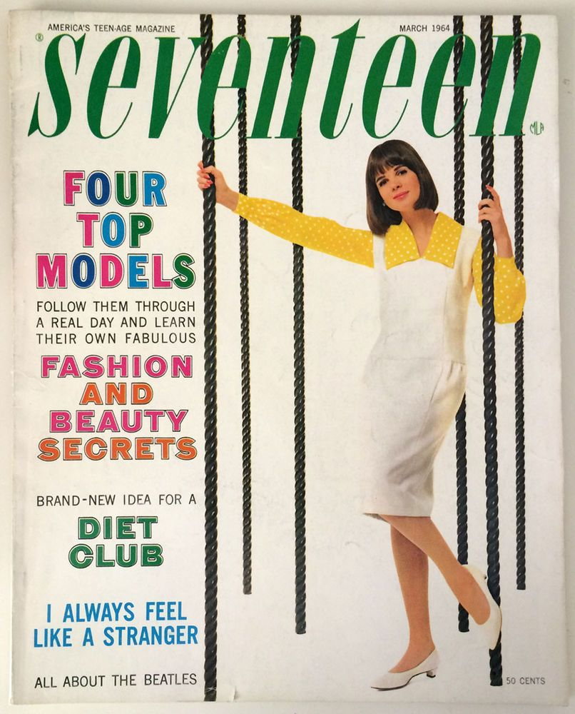 Мagazine Fashion 17 Only Sweet Girls: March 1964 Cover With Florence Julien