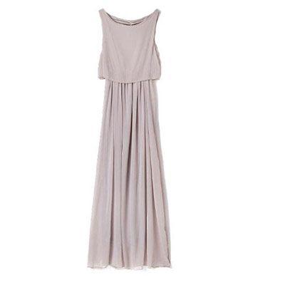 new concept ab189 c0ced 49,90EUR Kleid grau im bohemian Style lang Chiffon www ...